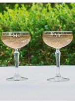 Cathy's Concepts 'For The Couple' Etched Champagne Coupe Toasting Glasses