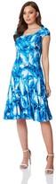 M&Co Roman Originals leaf print panel dress