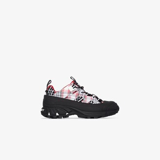 Burberry multicoloured Arthur tartan sneakers