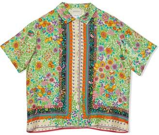 Gucci Kids Floral Print Shirt