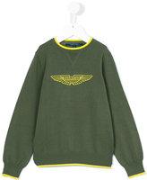Aston Martin Kids - logo print sweatshirt - kids - Cotton - 2 yrs