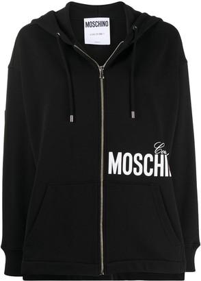 Moschino Logo-Print Oversized Hoodie