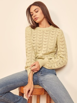 Reformation Champs Pointelle Sweater