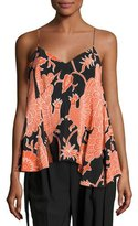 Creatures of the Wind Bird-Print A-Line Sleeveless Blouse