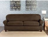 Sure Fit® Vintage Faux Leather Individual Cushion 2-Seat Sofa Slipcover