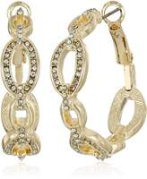 T Tahari Frozen Link Hoop Earrings
