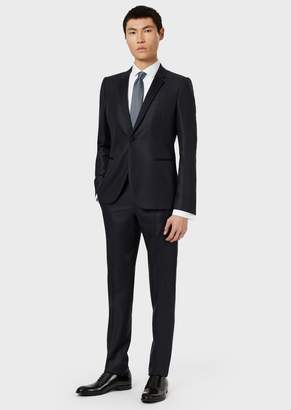 Emporio Armani Single-Breasted Suit In Supreme Wool And Silk