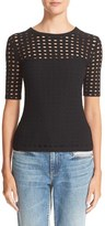 Alexander Wang Women's Cutout Jacquard Top