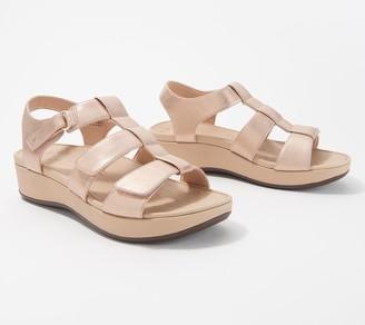 Vionic Back-Strap Platform Wedge Sandals - Tami Metallic