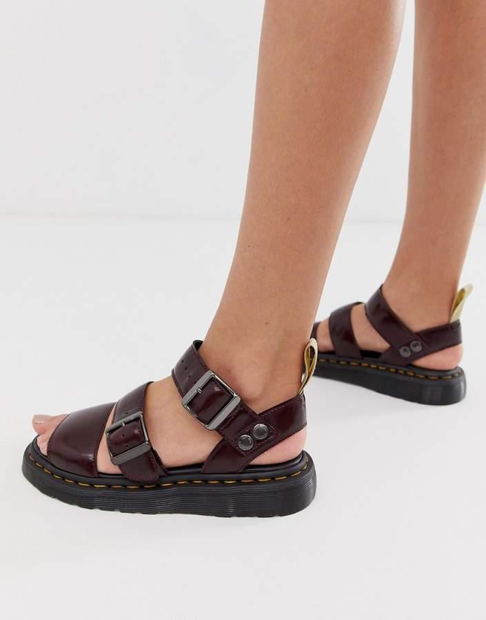 Dr. Martens Gryphon vegan sandals in red