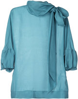Paule Ka tie neck woven top - women - Silk - 38