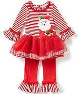 Rare Editions Baby Girls 3-24 Months Christmas Santa Tutu Dress and Ruffle Hem Leggings Set