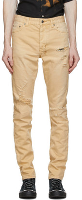 Ksubi Tan Chitch Trashed Jeans