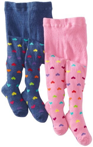 Country Kids Baby Girls' Hearts 2 Pair Tights