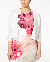 Calvin Klein Plus Size Braided-Trim Shrug