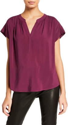 Velvet Kristin V-Neck Short-Sleeve Top