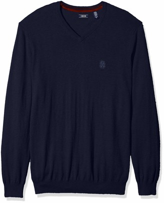 Izod Men's Big and Tall Long Sleeve Soft Fine Gauge Solid V-Neck Sweater