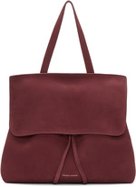 Mansur Gavriel Burgundy Suede Mini Lady Bag