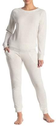Calvin Klein Long Sleeve Shirt & Joggers Pajama 2-Piece Set