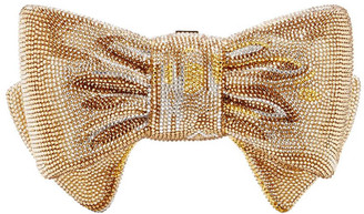 Judith Leiber Champagne Gold Bow Crystal Clutch