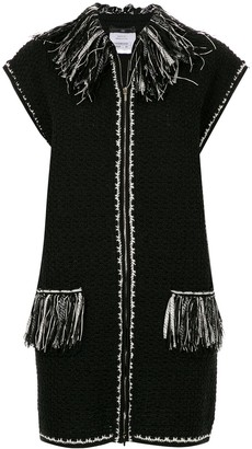 Chanel Pre Owned Sleeveless Fringed Jacket