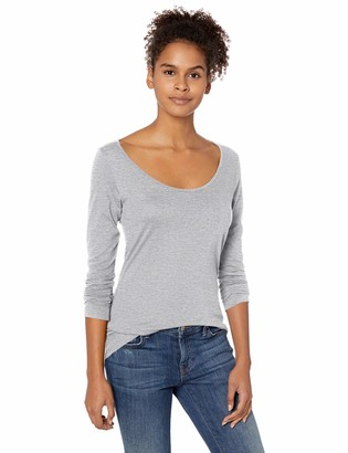 Soffe MJ Junior's Ladies CVC Long Sleeve Scoop Neck Tee