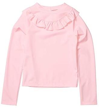 Janie and Jack Ruffle Rashguard Top (Toddler/Little Kids/Big Kids) (Pink) Girl's Swimwear
