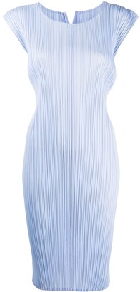 Pleats Please Issey Miyake Ribbed Sleeveless Dress