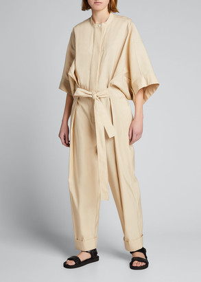 3.1 Phillip Lim Belted Jumpsuit with Smocked Waistband