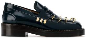 Marni pierced thick sole loafers
