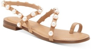 INC International Concepts Inc Jayden Embellished Toe-Ring Flat Sandals, Created for Macy's Women's Shoes