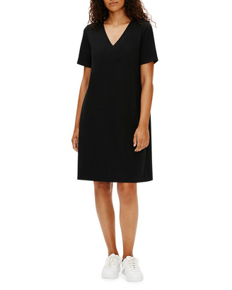 Eileen Fisher Petite V-Neck Organic Stretch Cotton Jersey Dress