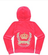 Juicy Couture Girls Logo Velour Jc Laurel Original Jacket
