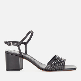 Whistles Women's Multi Strappy Block Heeled Sandals - Black