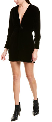 Nicholas Velvet Silk-Blend Mini Dress
