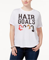 Mighty Fine Trendy Plus Size Cotton Hair Goals Graphic T-Shirt