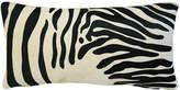 One Kings Lane Vintage Zebra Stripe Cowhide/Linen Pillow