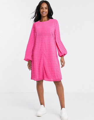 Vila oversized swing t-shirt dress in pink