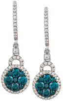 LeVian Le Vian Exotics® Diamond Blue Earring (1 ct. t.w.) in 14k White Gold
