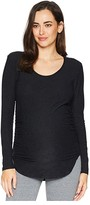 Beyond Yoga Maternity Cut and Run Pullover (Darkest Night) Women's Clothing
