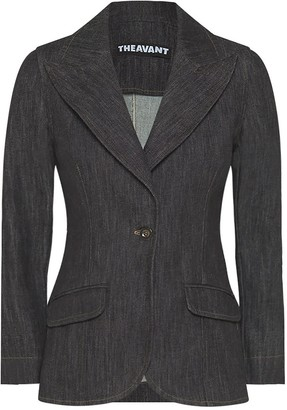 Theavant Melanie Black Denim Blazer
