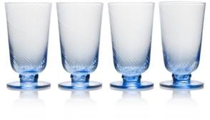 Mikasa Avalon Blue 15oz Iced Beverage Glasses, Set of 4