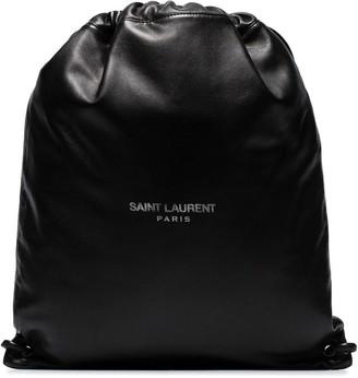 Saint Laurent Teddy logo-print backpack