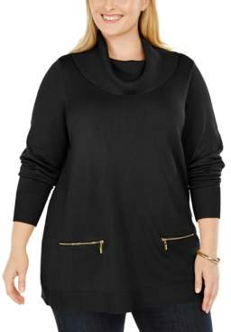 JM Collection Plus Size Cowlneck Sweater, Created For Macy's