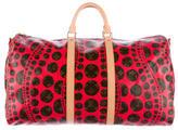 Louis Vuitton Yayoi Kusama Red Monogram Keepall 55 Bandoulière