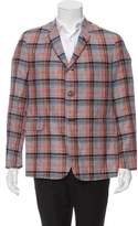Black Fleece Linen Three-Button Blazer