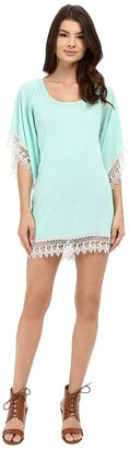 Lucy-Love Lucy Love Women's in Heaven Lace Trim Tunic Dress