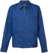 A.P.C. zipped shirt jacket - men - Cotton/Spandex/Elastane - L