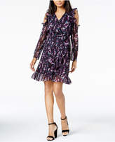 Maison Jules Printed Cold-Shoulder Ruffled Dress, Created for Macy's