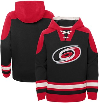 Outerstuff Youth Black Carolina Hurricanes Ageless Must-Have Lace-Up Pullover Hoodie